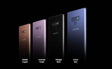 Samsung Galaxy Note 9 colour selection